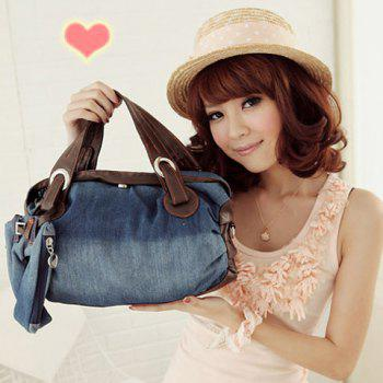 Stylish Style Casual Splicing and Denim Design Tote Bag For Women - BLUE BLUE