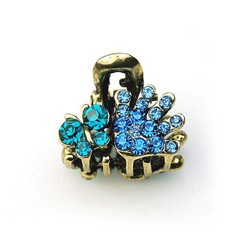 Gorgeous Style Rhinestone Embellished Women's Hair Claw Clip - BLUE