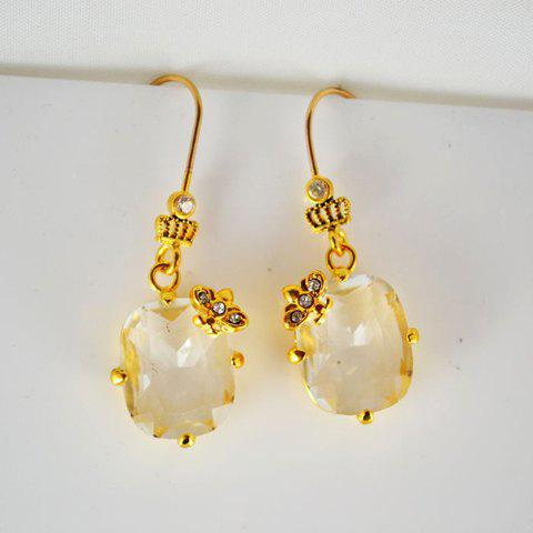 Pair of Zircon Embellished Earrings - AS THE PICTURE