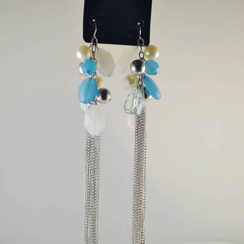 Pair of Chic Stylish Beads Pendant Tassels Earrings For Women - AS THE PICTURE