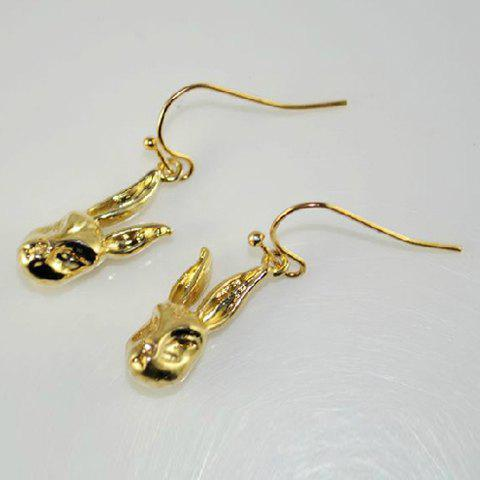 Pair of Chic Sweet Rabbit Shape Drop Earrings For Women - AS THE PICTURE