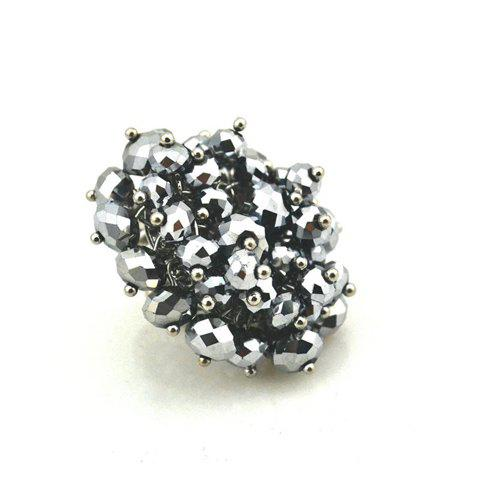 Stylish Faceted Bead Embellished Finger Ring For Women