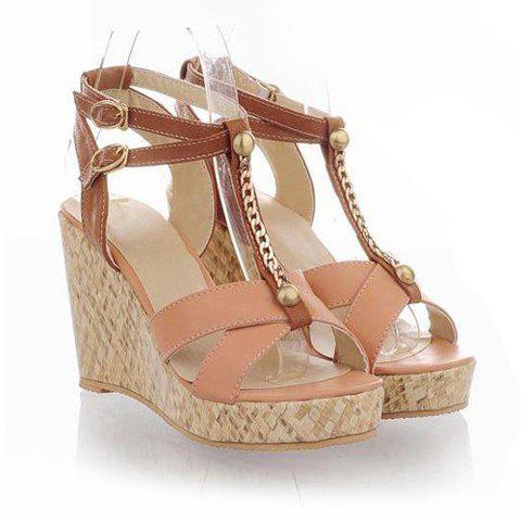 Vintage Style Party Candy Color Matching And Rivets Design Sandals For Women Nude In Sandals