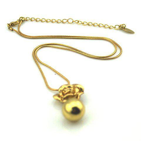Alloy Ball Necklace - AS THE PICTURE