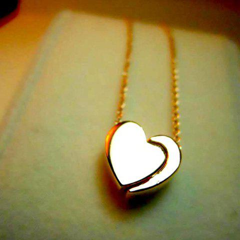 Sweet Style Heart and Crescent Shape Pendant Embellished Women's Necklace - GOLD