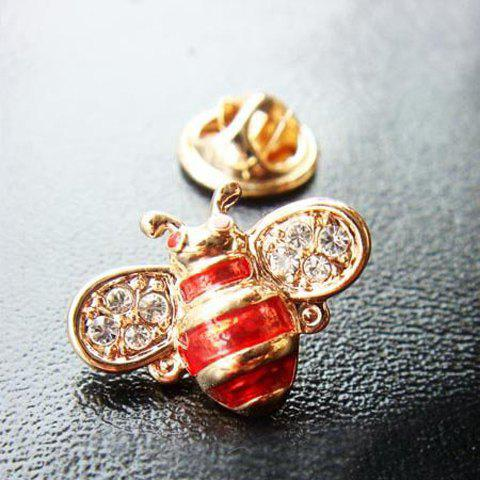 Sweet Rhinestoned Bee Shape Women's Brooch - AS THE PICTURE