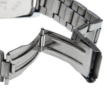 Knuode Quartz Watch 1 Numbers and Strips Indicate Steel Watchband for Men -