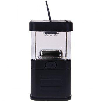 11 LED Bivouac Camping Lantern Light Lamp Tent Fishing Torch Drawbar - Black BLACK
