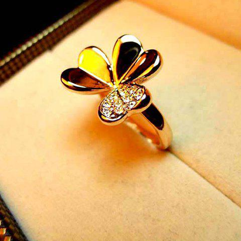 Sweet Style Exquisite Heart Flower Shape Rhinestone Embellished Women's Ring - AS THE PICTURE ONE SIZE