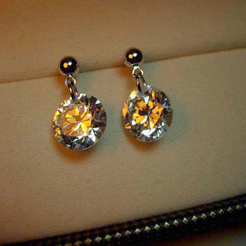 Pair of Chic Rhinestone Embellished Women's Drop Earrings - COLOR ASSORTED