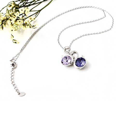 Elegant Swan Shape Crystal Pendant Women's Necklace