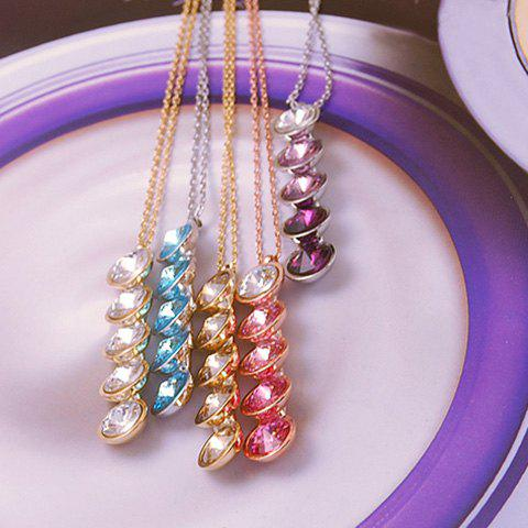Sweet Colormix Candy Shape Pendant Necklace For Women - COLOR ASSORTED