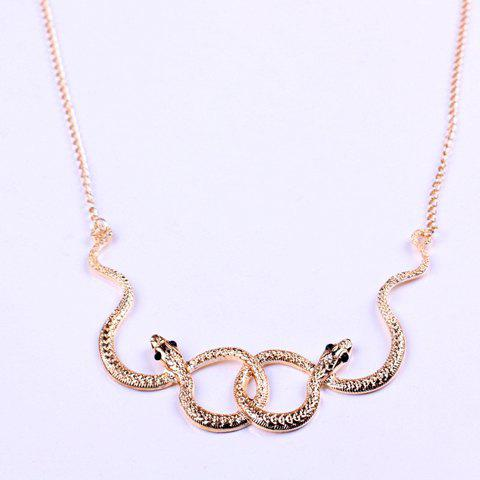 Vintage Snake Embellished Pendant Necklace - AS THE PICTURE