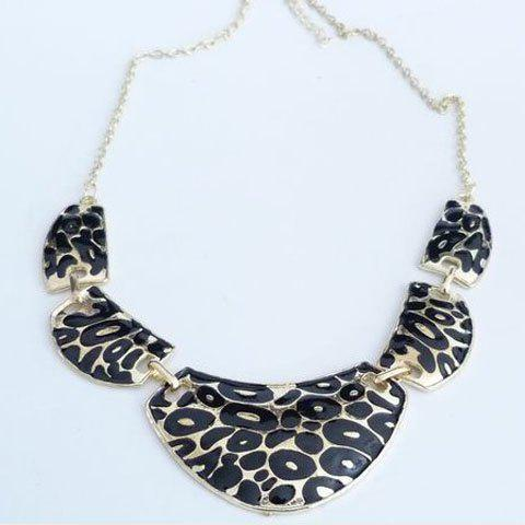 Vintage Leopard Pattern Statement Necklace - AS THE PICTURE