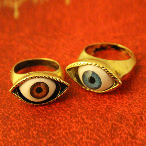 Vintage Eye Shaped Ring - COLOR ASSORTED ONE SIZE