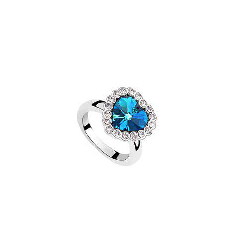 Chic Rhinestone Decorated Heart Shape Ring - COLOR ASSORTED ONE SIZE