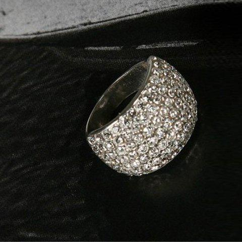 Fashion Rhinestone Decorated Ring - AS THE PICTURE ONE SIZE