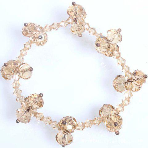 Exquisite OL Style Crystal Bead Bracelet For Women