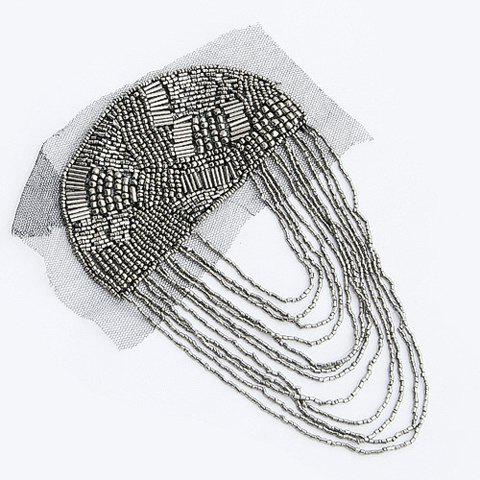 Exquisite Little Beads Embellished Long Tassels Brooch For Women - AS THE PICTURE