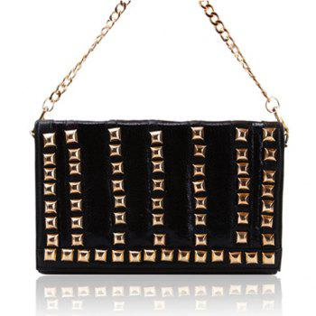 Party Rivets and Color Block Design Women's Shoulder Bag