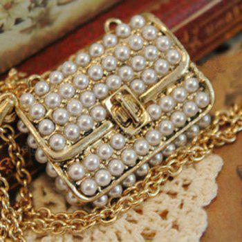 Faux Pearl Bag Pendant Design Necklace - AS THE PICTURE AS THE PICTURE