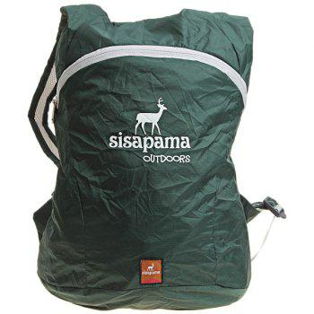 Sisapama Ultralight Portable 18 Liters Folding Backpack for Outdoor Activity - Olive Green