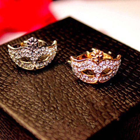 Hot Sale Stunning Style Rhinestone Mask Shape Ring For Women - SILVER ONE SIZE