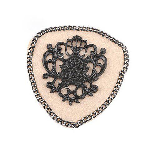 Simple Alloy Crown and Fringe Embellished Cloth Brooch For Women
