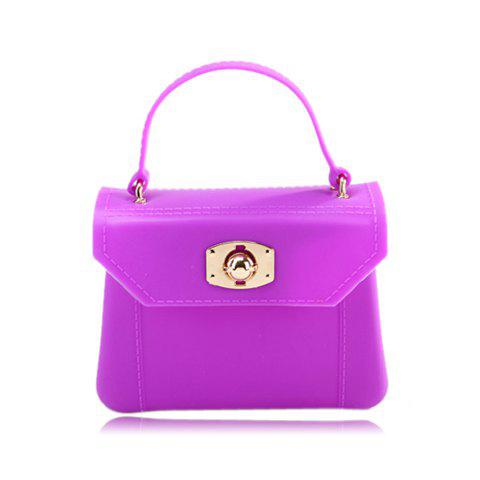 Casual Gorgeous Solid Color and Rubber Design Women's Tote Bag - PURPLE