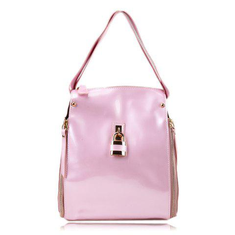 2013 New Arrival Candy Color Matching and Metallic Design Shoulder Bag For Women - PINK