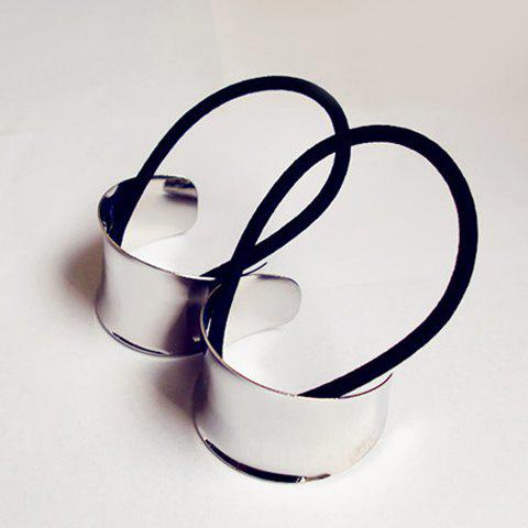 Practical Hot Sale Style Alloy Elastic Hair Band For Women - SILVER