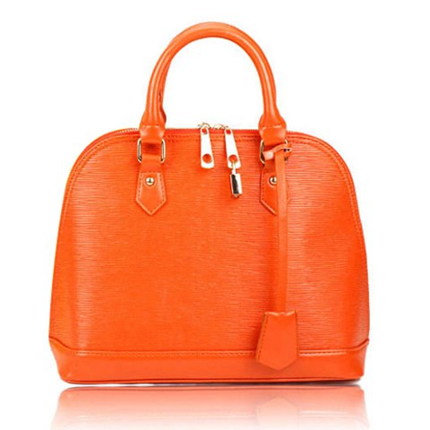 Casual Candy Color and PU Leather Design Tote Bag For Women - JACINTH