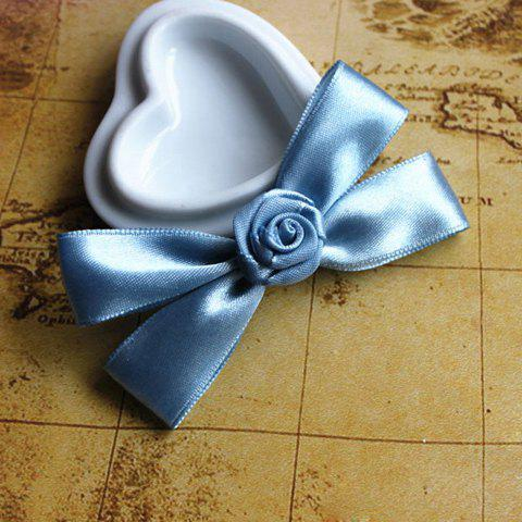 Preppy Ribbon Bowknot Embellished Flower Brooch For Women - AS THE PICTURE