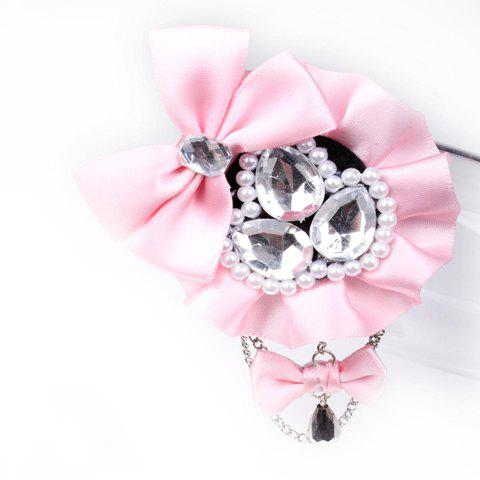 Stunning Bowknot Pearl and Rhinestone Embellished Women's Flower Brooch