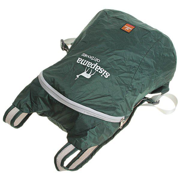 Sisapama Ultralight Portable 18 Liters Folding Backpack for Outdoor Activity - Olive Green - OLIVE GREEN