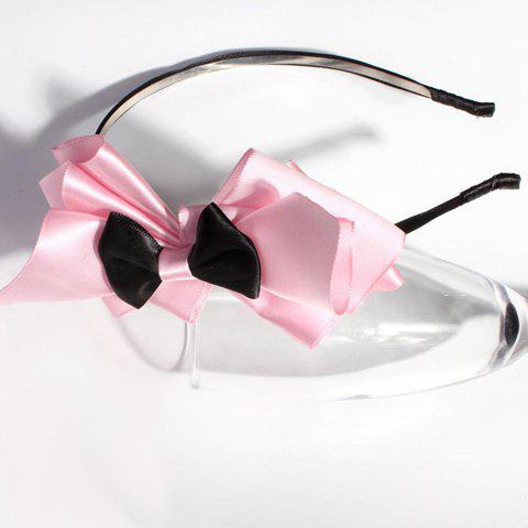 Sweet Style Multi-Layered Bowknot Women's Ribbon Hair Band - PINK