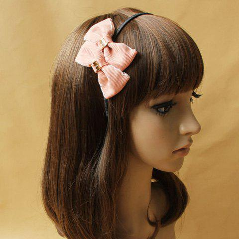 Sweet Style Bowknot Embellished Hair Band For Women - PINK