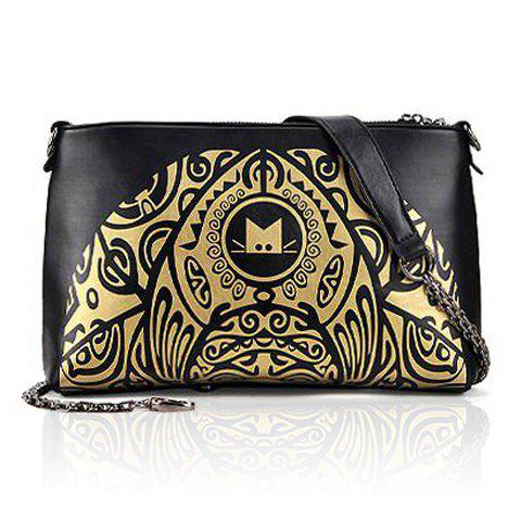 Party Color Matching and Floral Print Design Shoulder Bag For Women