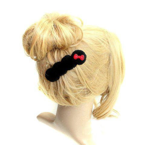 Sweet Style Bowknot Embellished Hair Clip For Women - BLACK