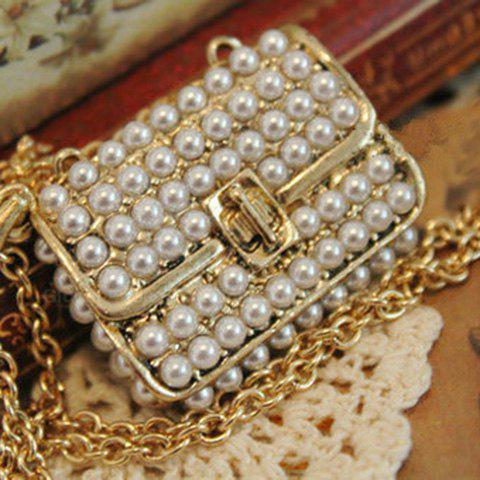 Faux Pearl Bag Pendant Design Necklace -  AS THE PICTURE