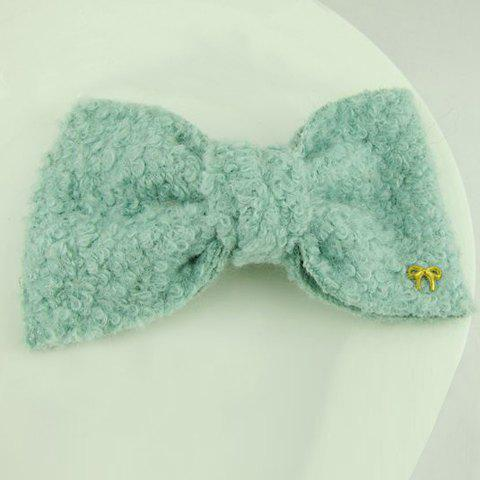 Chic Great Solid Color Woolen Bowknot Embellished Women's Hairpin - COLOR ASSORTED