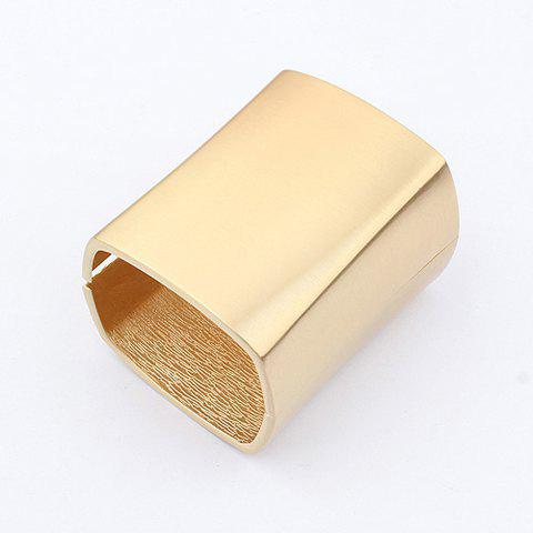 Simple Style Metal Smooth Fashional Alloy Opening Bracelet - GOLD