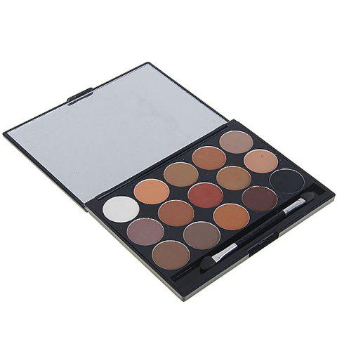 8815# 15 Colors Charming Makeup Eyeshadow Cosmetic Set with Mirror and Brush for Women 04# -