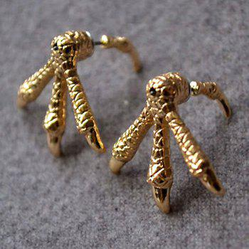 Chic Solid Color Embellished Eagle Claw Shape Earrings For Women