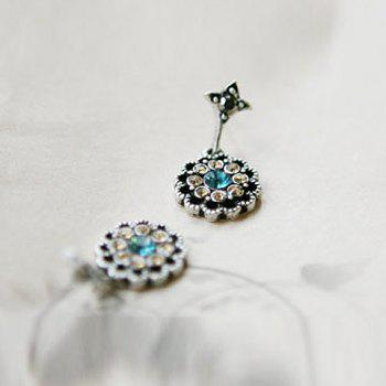 Rhinestone Embellished Waterdrop Shape Earrings