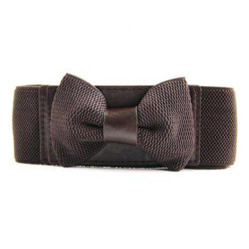 Sweet Bowknot Decorated Elastic Belt For Women