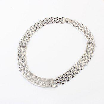 Alloy Rhinestoned Choker Necklace