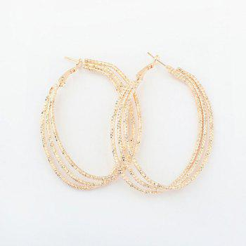 Pair of Multilayered Hoop Earrings