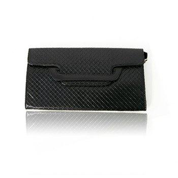 New Arrival Black and Checked Design Clutch For Women