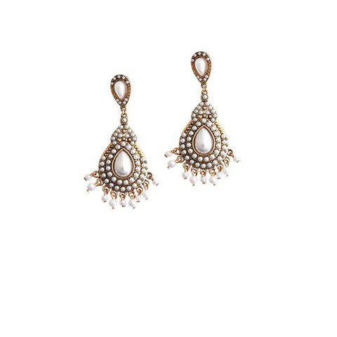 Pair of Retro Style Fashion Faux Pearl Earrings For Women